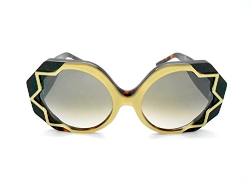 Cutler and Gross Tortoise/gold Oversized Round Sunglasses