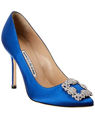 Manolo Blahnik Hangisi Satin Pump, 36, Blue