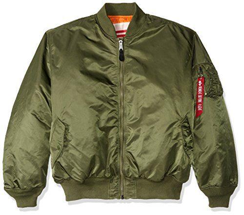 Alpha Industries Men's MA-1 Blood Chit Flight Bomber Jacket, Sage, 5X