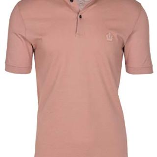 Dolce & Gabbana Men's Light Pink Crown 'Corona' Short Sleeve Polo Shirt