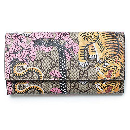 Gucci Bengal Pink Mixed Tiger Fabric leather Flap Snap Bag