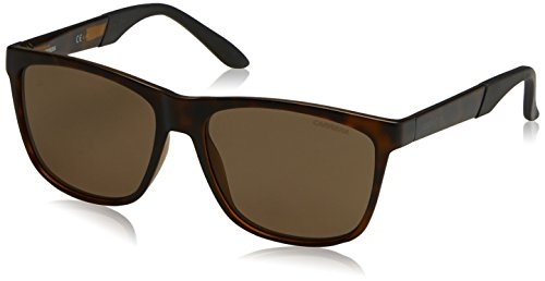 Carrera Men's Polarized Rectangular Sunglasses, Havana, 56 mm