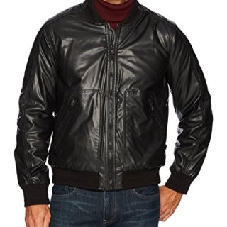 Marc New York by Andrew Marc Men's Delaware Faux Lamb Bomber Jacket