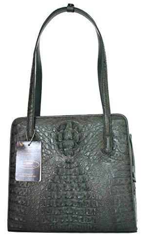 Authentic M Crocodile Skin Womens Genuine Hornback Crocodile Leather Shoulder