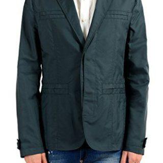 Versace Collection Men's Green Two Button Blazer Sport Coat
