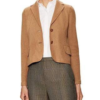Akris Womens Beatle Split Cuff Jacket, 8 Tan