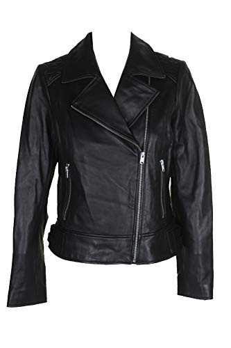 Andrew Marc Marc York Black Leather Moto Jacket M