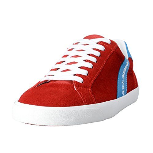 Dolce & Gabbana Men's Red Suede Leather Fashion Sneakers Shoes