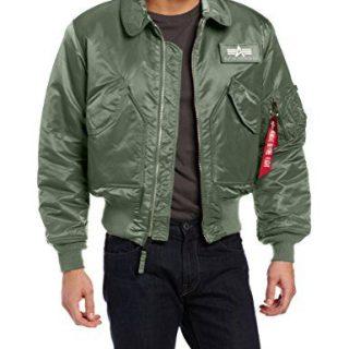 Alpha Industries Men's Flight Jacket, Sage Green, Small