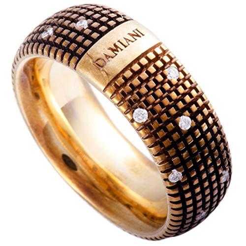 Damiani Metropolitan 18K Brown Gold 18 Diamonds Textured Band Ring