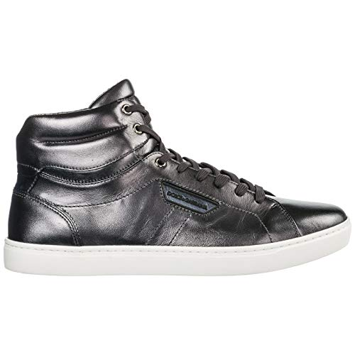 Dolce & Gabbana Men Mordorè high top Sneakers Peltro Nero