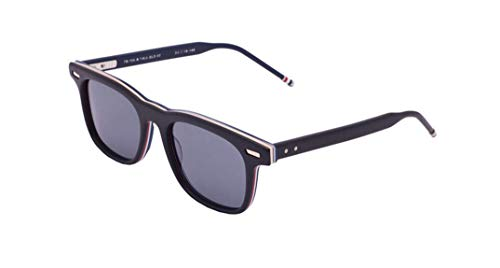 Thom Browne /Matte Black Gold Metal Sunglasses w/Dark Grey - AR 50mm