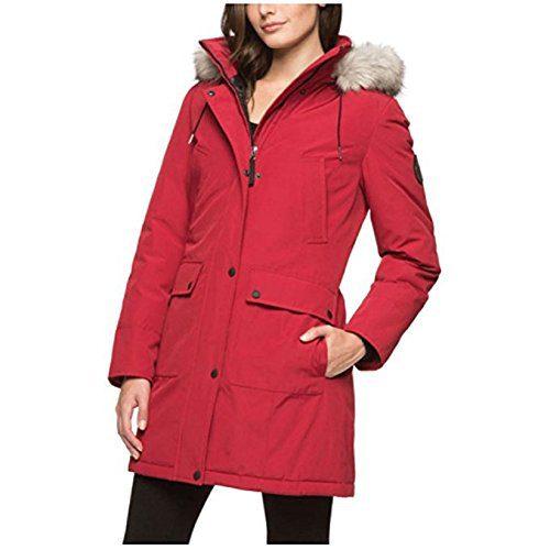 Andrew Marc Ladies Hooded Snorkel Jacket, Detachable Fur Lined Hood
