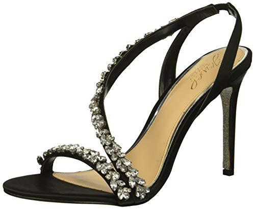 Jewel Badgley Mischka Women's Java Heeled Sandal, Black