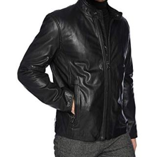 Marc New York by Andrew Marc Men's Emerson Calfskin Leather Jacket