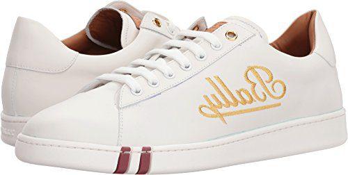 BALLY Men's Winston Sneakers, White, 9 M US