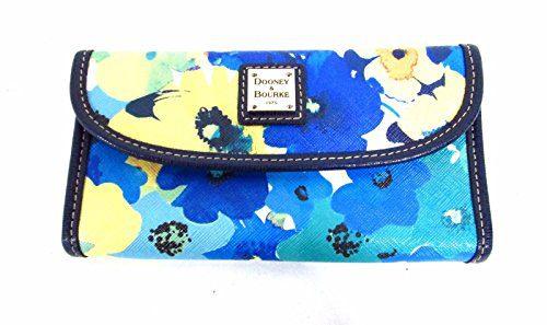Dooney & Bourke Floral Continental Clutch Somerset Marine wallet