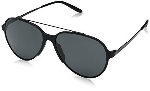 Carrera Aviator Sunglasses, Matte Black/Gray, 57 mm
