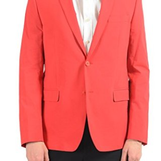 Versace Collection Men's Red Stretch Two Button Blazer Sport Coat