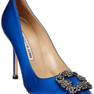 Manolo Blahnik Hangisi Satin Pump, 40, Blue
