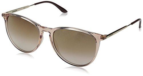 Carrera Square Sunglasses, Pink Brown Mirror Gold, 54 mm