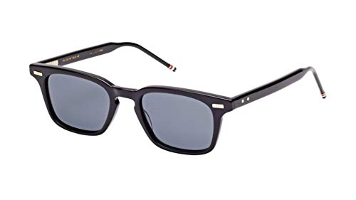THOM BROWNE Sunglasses Black/Dark Grey-AR 49mm