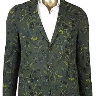 Gucci Floral Blazer Green Cotton Two Button Jacket