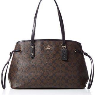 Coach Signature Drawstring Carryall Shoulder Bag