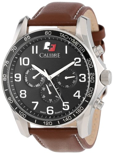 Calibre Men's Buffalo Round Stainless Steel