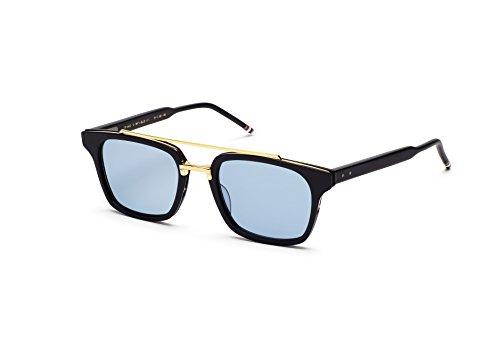 Sunglasses THOM BROWNE Shiny Navy18k Gold w/Dark BlueAR