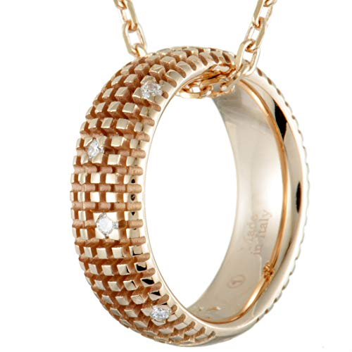 Damiani Metropolitan 18K Rose Gold and Diamond Ring Pendant Necklace