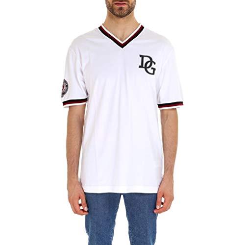 Dolce e Gabbana Men's White Cotton T-Shirt