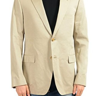 Gucci Men's Cashmere Beige Two Button Blazer Sport Coat