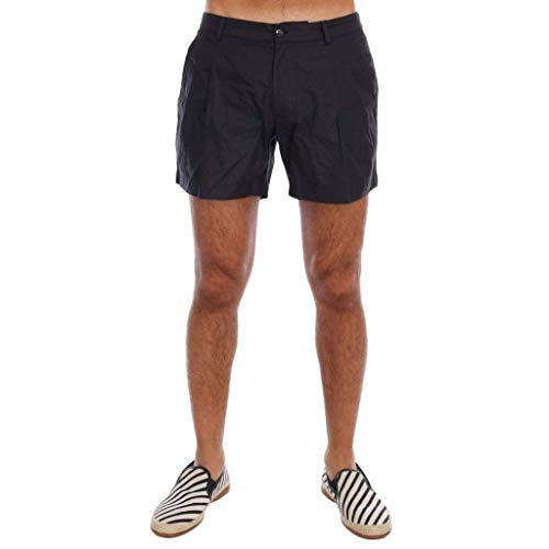Dolce & Gabbana Black Jacquard Beachwear Shorts