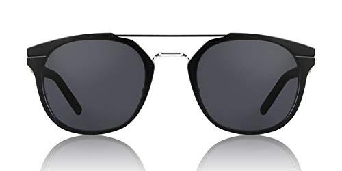 0ac6728f177 Dior Homme Black Round Sunglasses Lens Category 3 Size 52mm
