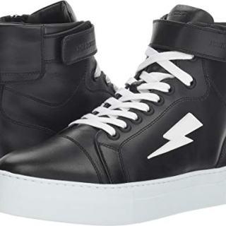 Neil Barrett Men's Thunder Basketball Sneaker Black/White