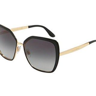 Dolce & Gabbana Women's Matte Black/Gold/Grey Gradient One Size