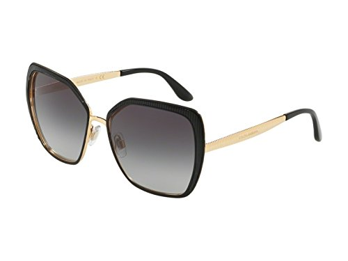 Dolce & Gabbana Women's Matte Black/Gold/Grey Gradient One Size