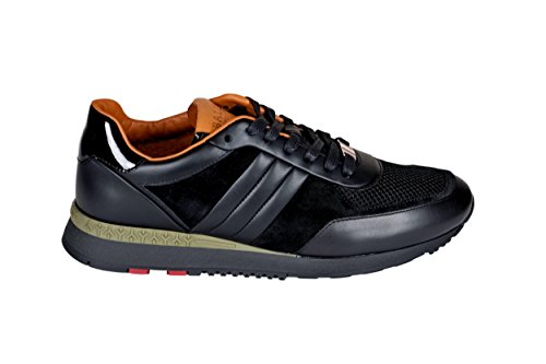 BALLY Men's Black Leather Sneakers