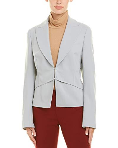 Akris Womens Wool-Blend Jacket, 10, Grey