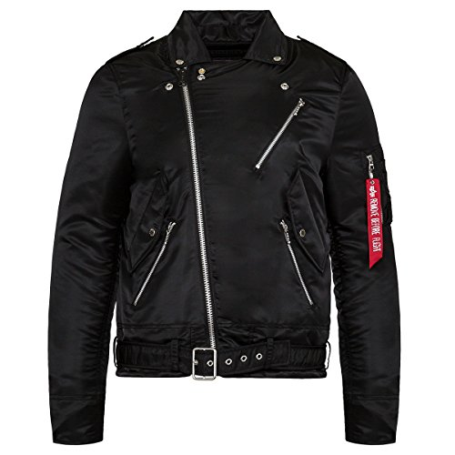 Alpha Industries Mens Outlaw Biker Jacket, Black, 2XL