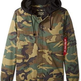 Alpha Industries Men's Fortitude Americana MID Length Zip Field Jacket