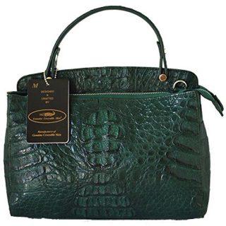 Authentic M Crocodile Skin Womens Hornback Leather