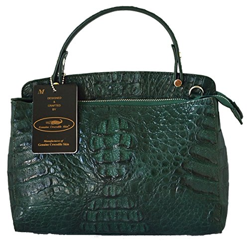 Authentic M Crocodile Skin Womens Hornback Leather