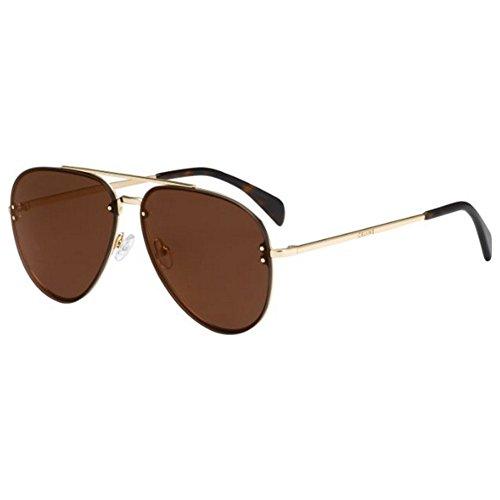 Celine Mirror Gold Metal Aviator Sunglasses