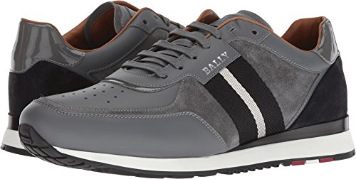 BALLY Men's Aston Sneakers, Grey, 11 M US