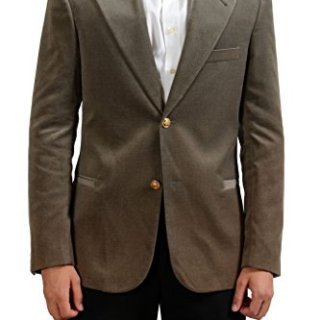 Versace Gray Two Buttons Men's Velour Blazer