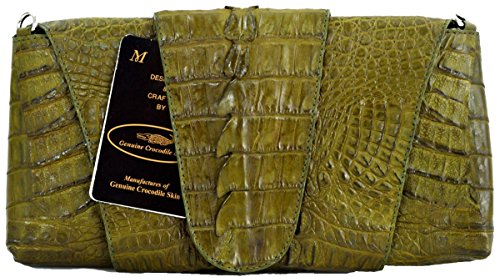 Authentic M Crocodile Skin Womens Genuine Head