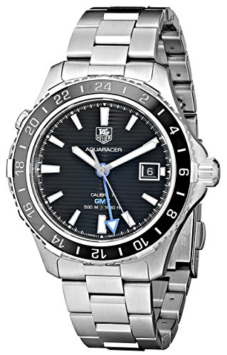 TAG Heuer Men's WAK211A.BA0830 Ceramic Calibre Analog Display Swiss Automatic Silver Watch
