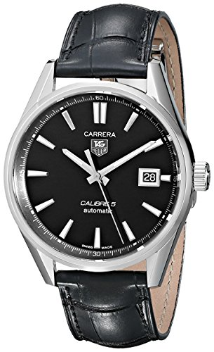 TAG Heuer Men's Carrera Calibre 5 Autmoatic Analog Black Watch